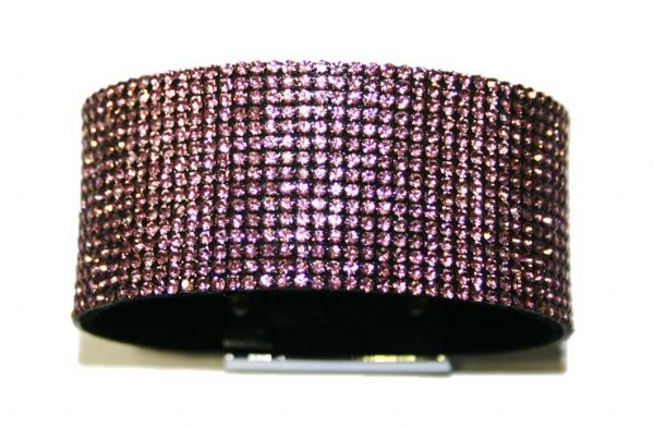 Diamante crystal bling cuff bracelet kit - lilac - tanzanite -- c4009007kit